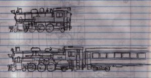 two Pacific tank engines by Atticus-W