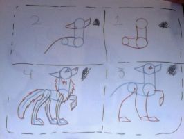 How to draw a Wolf My Way by musicalfood360