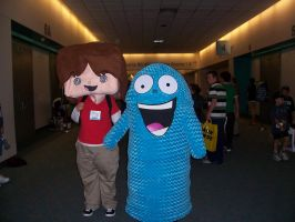 Mac and Bloo at Comic-Con by OneRadicalDude