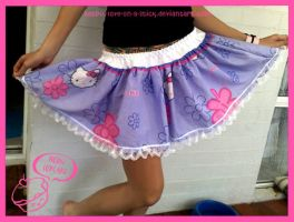 Hello kitty skirt 2 by love-on-a-stick