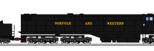 Norfolk and Western Steam Turbine 2300 final by KirovRampager