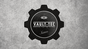 FALLOUT: Vault-Tec Commercial Flag by okiir