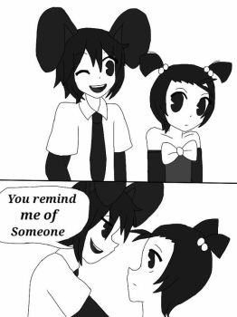 Ian with the Mysterious Girl? (Anime Version) by academian