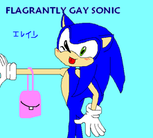 Flagrantly Gay Sonic by soggycereal