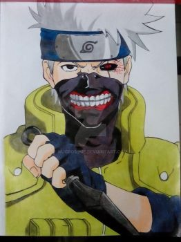 Kakashi X Ghoul by mjcbosque