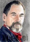 Timothy Dalton miniature by whu-wei
