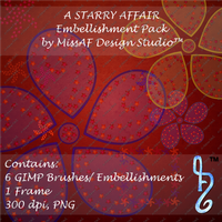 A Starry Affair Brush and Embellishment Pack by MissAFDesignStudio