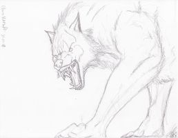 Unfinished Werewolf Sketch by Steel-Raven