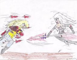 Clair VS One by LionheartXIII