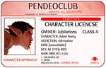 Character License - ADAM by Pendeomod