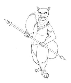 Evil Redwall Squirrel (August 2012) by Temiree