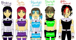 Starfire's Family by deviant-comic-artist
