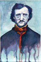Edgar Allan Poe watercolor by thewalkingman