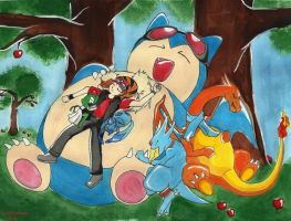 +Crimson and His Pokemon+ by Lovely-Autumn