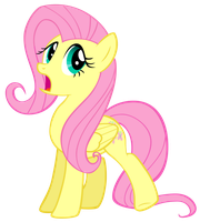 Fluttershy - Raise Rear Hoof by Liggliluff