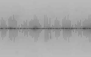 Sound Wave White Wallpaper by avaldive