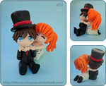 Chibi Wedding Cake Topper 2 by Nko-ennekappao
