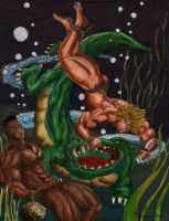 The Monster of the Boiling Pool Coloured by Teracles
