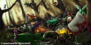 COM : Battle in Forest part 2 by whiteguardian