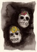 Day of the Dead Skulls by Roadstead