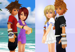 Young Themselves Sora x Kairi and Roxas x Namine by 9029561