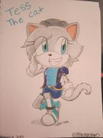 Tess the cat (request) by OceanSkyViolet