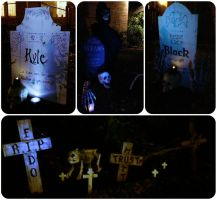 Cemetery Markers and Tombstones by loveandeyeballs