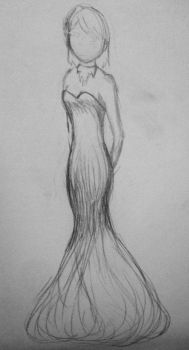 Day 2 A. Dress sketch by icekat311