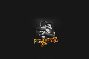 Pique and Messi by shootingstar1995