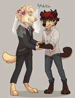 Butterscotch and Very Cherry Wedding...thing by Mikaces