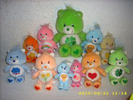 Care Bears Plush Collection of new ones 2012 by kratosisy