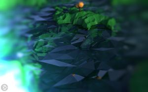 Low-Poly landscape day 7 by tobber103