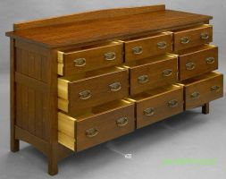 Long dresser, drawers out by DryadStudios