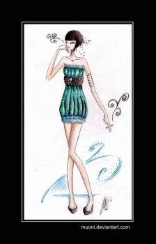 Turquoise Pearl by Muoni