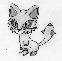 Purrow-  Desert Cat Pokemon by TheStaplerator