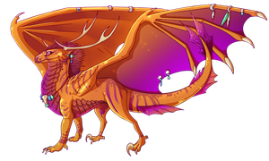 Dragonfire - Design Commission by Kingfisher-Gryphon