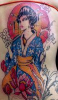 geisha tattoo 10 in progress by mojoncio