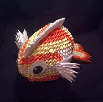 3D Origami Fish by Xanokah