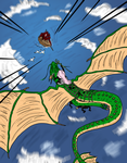 The dragoness' rider by Master-Kankuro