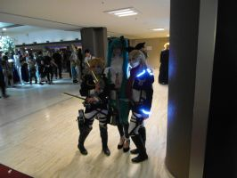 Animecon 2014 Titanloids and Miku by interceptornl