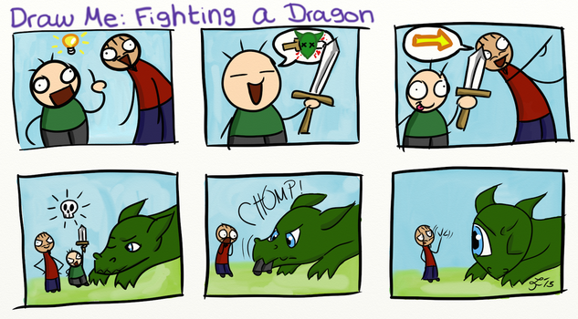 Draw Me: Fighting a Dragon by Smelly-Mouse