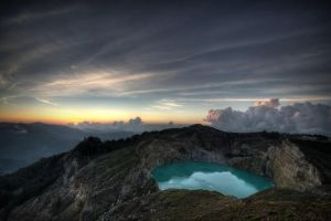 Sunrise on kelimutu volcano by kosmobil