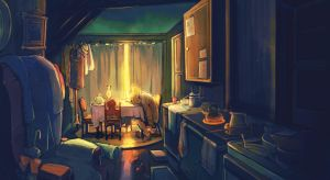 Chimney Cleaner:: interior by kissai