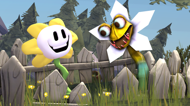 Flowey and flower from heroes of the storm by 8Yaron8