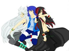sonic, shadow y silver human by nessi98
