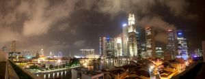 Business district panorama by Gatsch111
