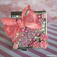 pink bow deco mirror by SamanthaJoy
