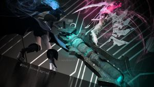 Black Rock Shooter - White Rock Shooter by krvrian
