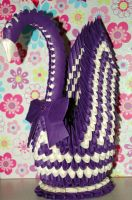 Purple cream Winged Swan by pprcrft5