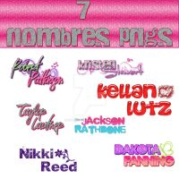 7 nombres PNGs by myperfectsaga